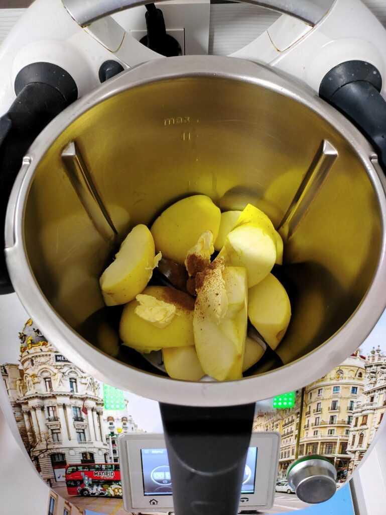 Tortitas de manzana y canela Thermomix