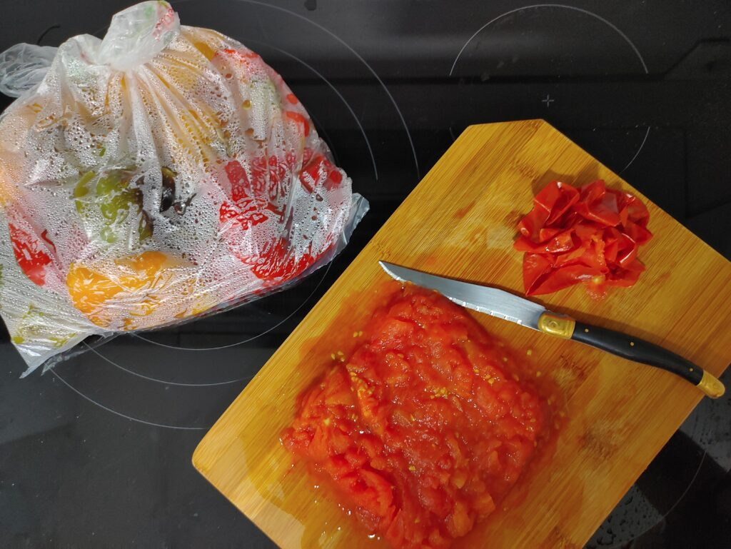 Cortar el tomate