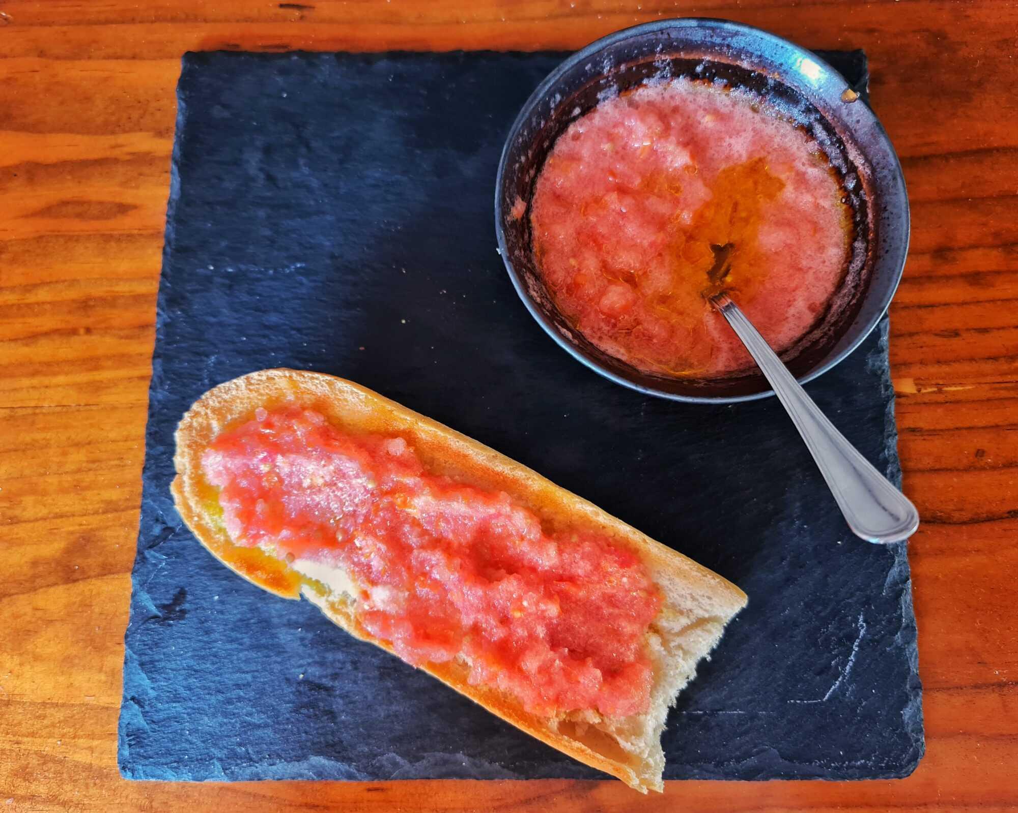 Barrita con tomate thermomix