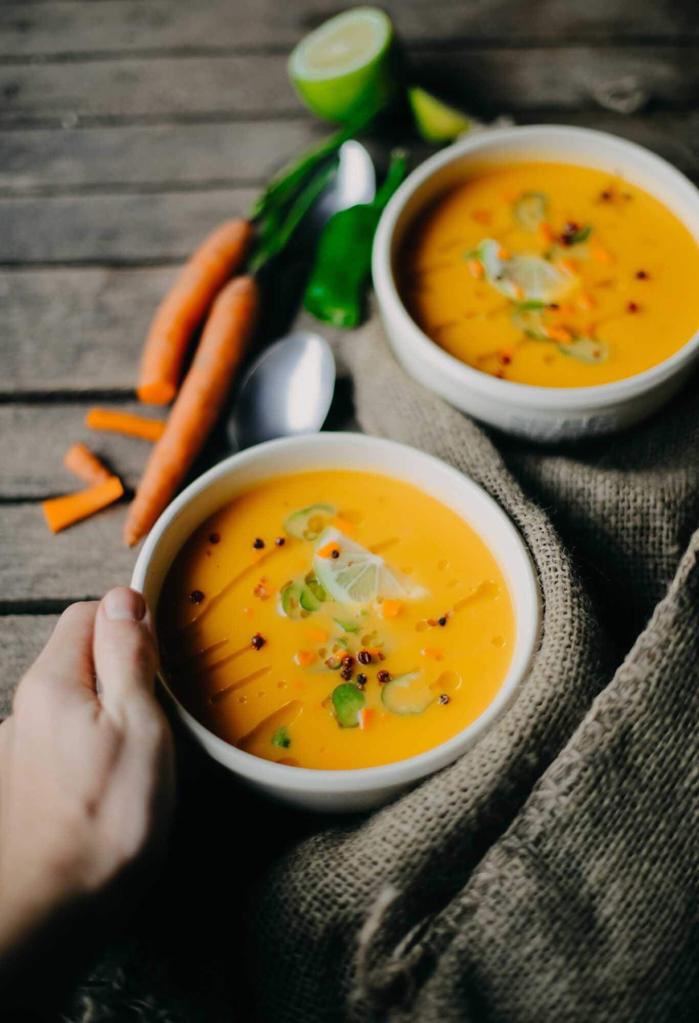 crema de zanahoria en la Thermomix